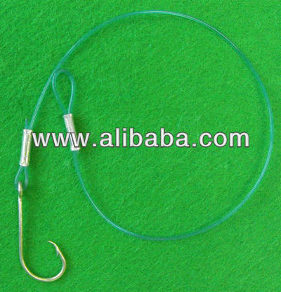 Hook with crimped Nylon line for Autolines