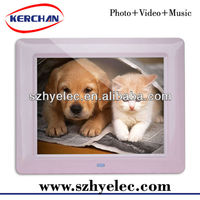 8 inch large size digital photo frame for christmas gift