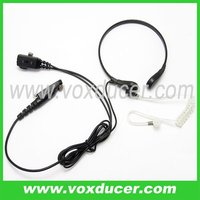 For Motorola military radio PTX760PLUS vox function ptt throat microphone