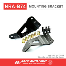 "Auto spare parts car 54"" Curved LED Light bar brackets Upper windshield/roof Mount Bracket For Chevy"