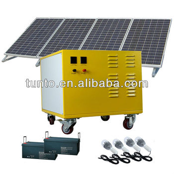 AC Mobile generator solar photovoltaic generator,600w solar power station,2 ways to charge