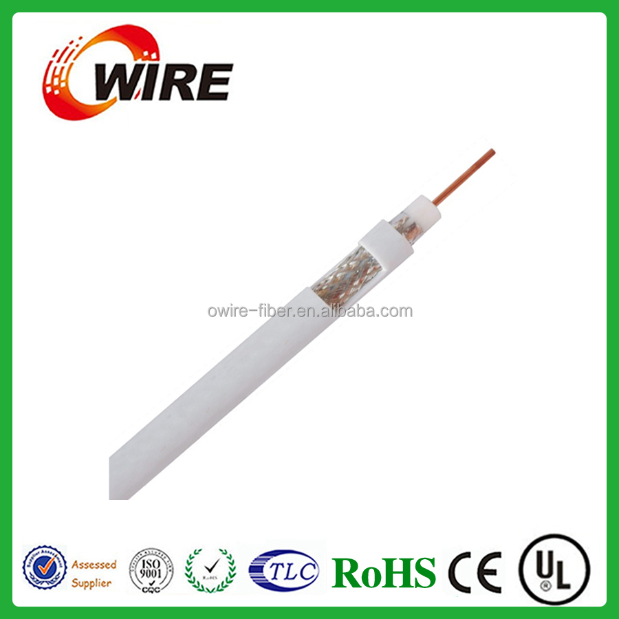 Supplier of high quality cctv/ catv cable75 ohm coaxial cable satellite coaxial cable wire low loss rg 6 coaxial cable