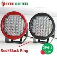 Big size led 12v spotlight car,Black/Red 10inch 225w led 12v spotlight car