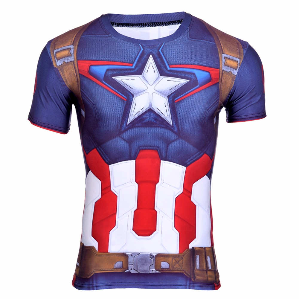 OEM Service Super Hero Suit Polyester Spandex digitally print star tshirts