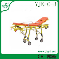 YJK-C-3 ambulance aluminum alloy stretcher cot for hot sale