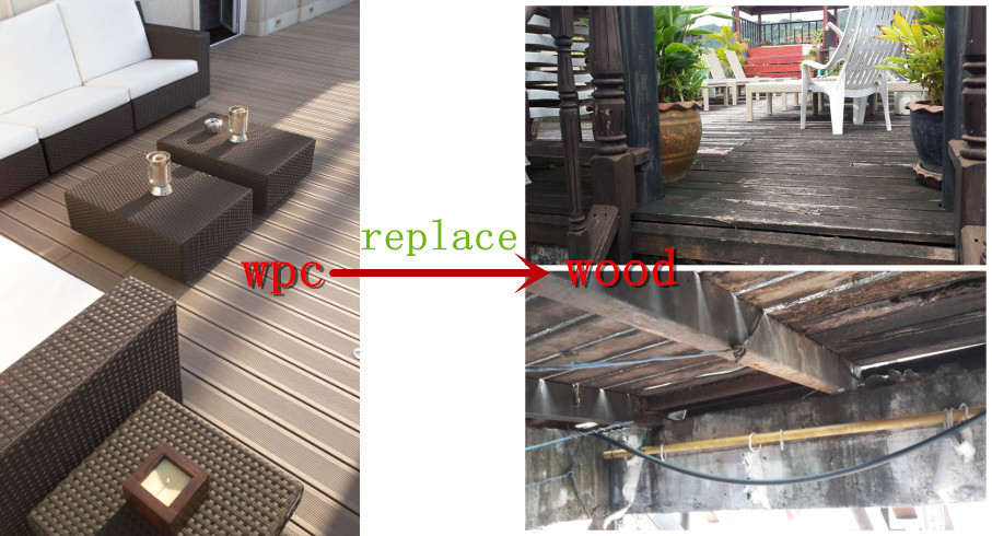 Outdoor wpc decking with hot sale,Eco-environmental decking,wpc crack-resistant decking,wpc decking iso9075,,composite decking