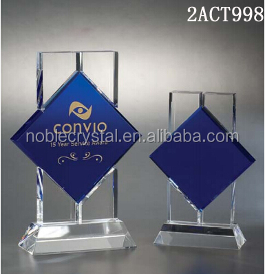 Popular new design high quality optical crystal plaque award