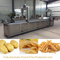 Fully automatic natural potato chips production line, french fries making machine