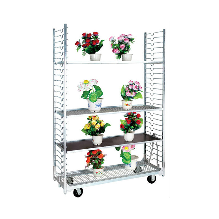 4 wheels easy assemble metal danish flower trollery carts
