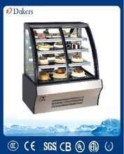 Dukers Front open glass door three layer Cake Display Refrigerator CVF-90
