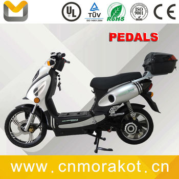 48V 1100W Geared motor powerful 2 wheel electric scooter with pedals ---LS3-2