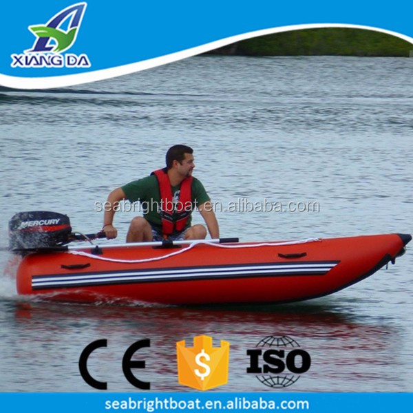 CE Approved PVC Hull Material High Speed Inflatable Catamaran Boat 4 Man Rubber Dinghy