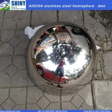 300mm Stainless steel hollow hemisphere mirror polished