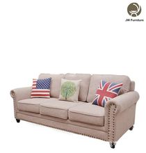 French style fabric curved replica sofa of wood classic sofa furniture