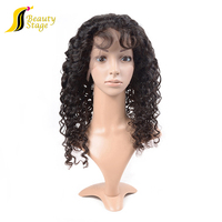 7A high quality full lace human hair wigs, cheap virgin india hair wigs for men price