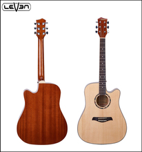 Customized Design cheap acoustic guitar with solid spruce top