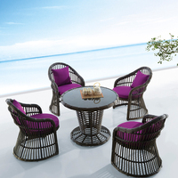 Black Rattan Outdoor Furniture Garden Treasure
