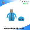 blue skin alien usb pen drive pvc cool pen drive with custom-made logo 4gb usb stick