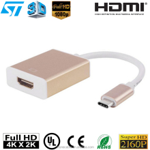 USB 3.1 Type C to HDMI Adapter, 1080P HDTV ( DP Alt mode) for Apple New MacBook 12 Inch