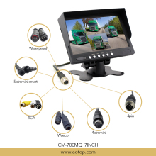 7 inch LCD Quad Monitor with Split 4 images Reversing Camera System for Car/Truck/Bus/Trailer/Van/Commercial Vehicle