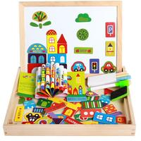 Wood Material And Jigsaw Puzzle City