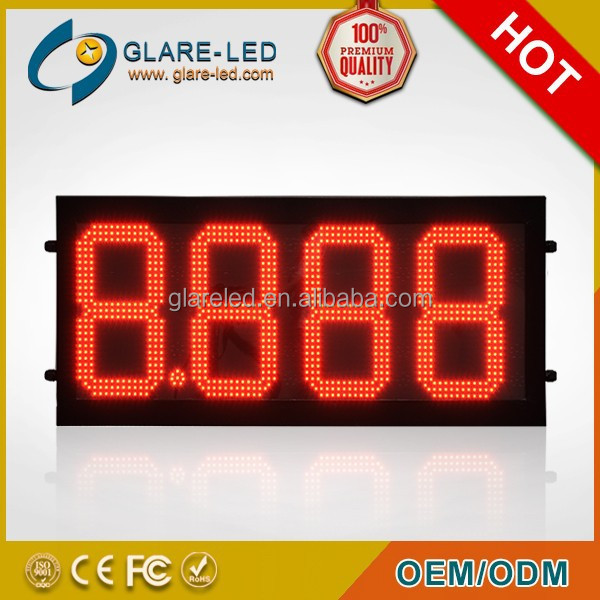2015 New led gas price sign cash credit replace used signs