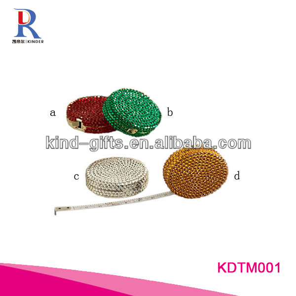 Hot Style Retractable bling rhinestone measure tape