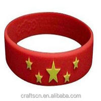 promotional gift colorful custom logo design silicone wrist band