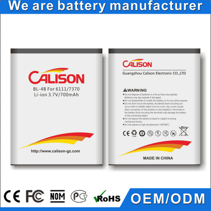 Hot Sale 6111/N76/2505/2630/3606 China Mobile Phone Battery for Nokia