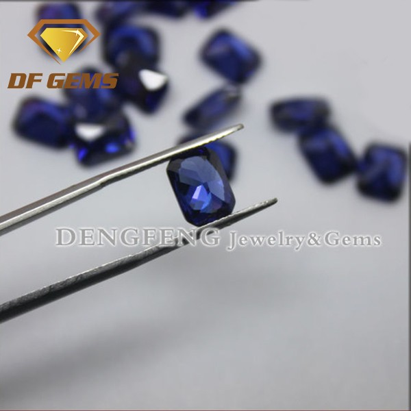 High Quality Rectangle Cut Tanzanite Necklace Cubic Zirconia