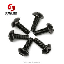 Custom Various Types Button Head Socket M4 Anodized Aluminum Screw Black
