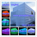 LED white inflatable cube display tent