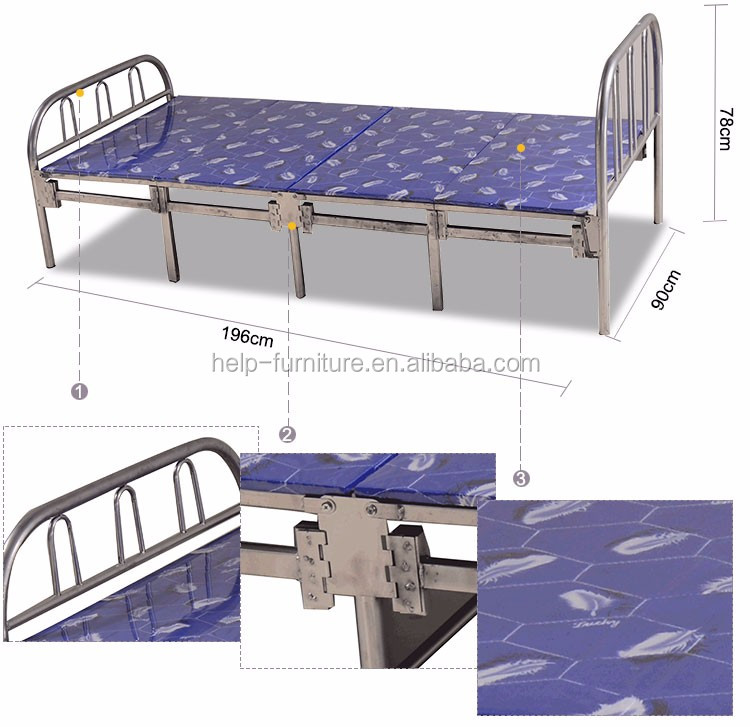 Cheap price of folding single bed