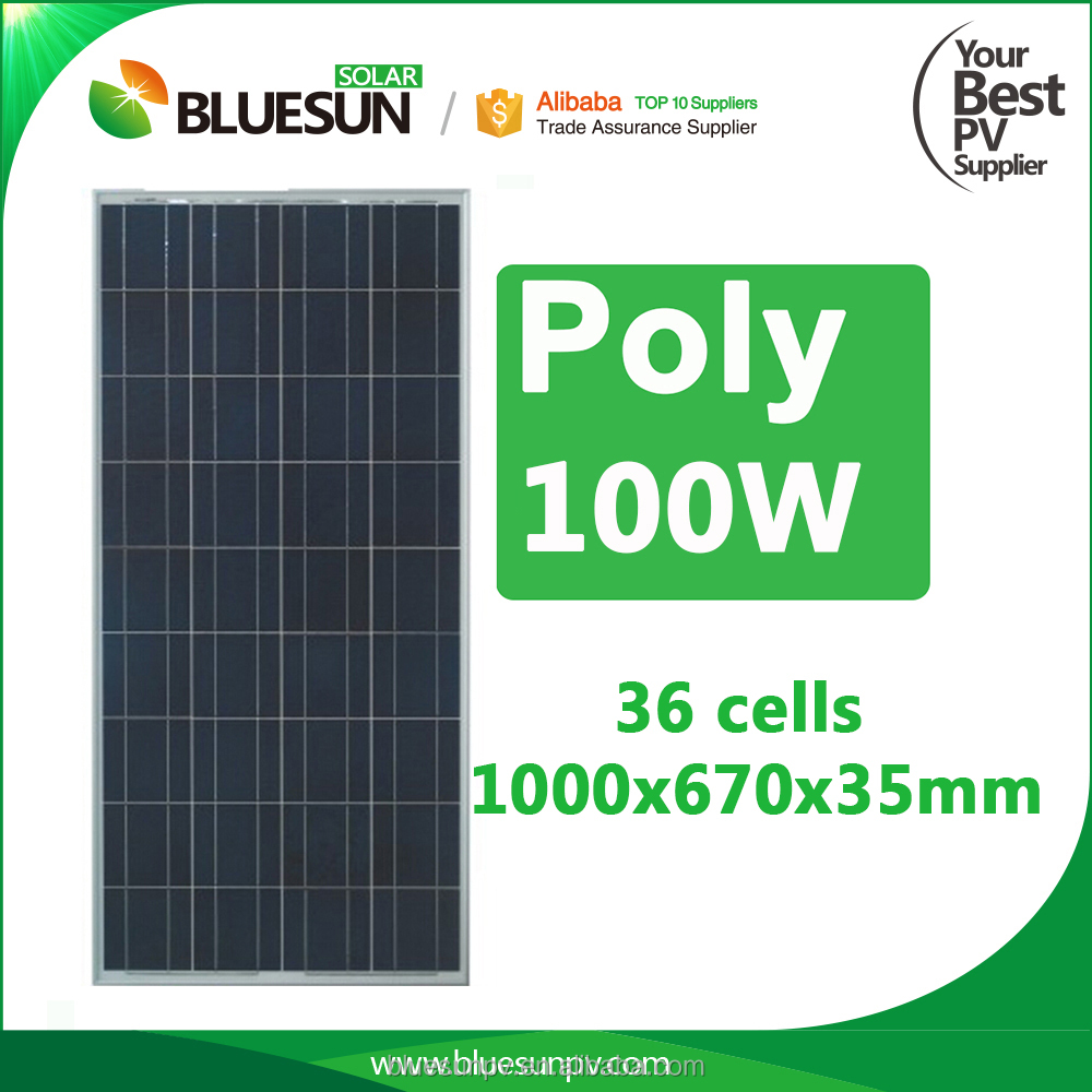 2016 cheapest hot sell low price 100w 100watt mini solar panel for home rooftop street light