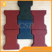 High quality Dog bone second hand rubber matting/cheap Interlocking Rubber Mat/anti-slip dog bone rubber flooring for horse
