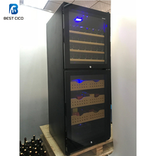 made in china compressor cooling modern wooden box refrigerated cabinet cigar humidifier cooler refrigerator humidor CH-128DD