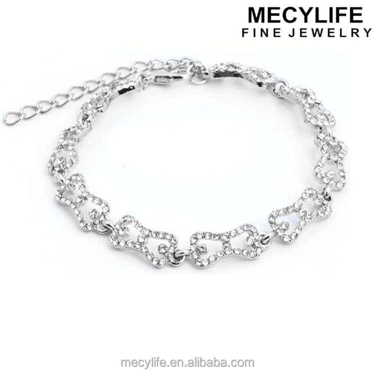 MECY LIFE 2016 TV Stars Good Jewelry Bracelet Crystal Bow The Vampire Diaries Bracelet