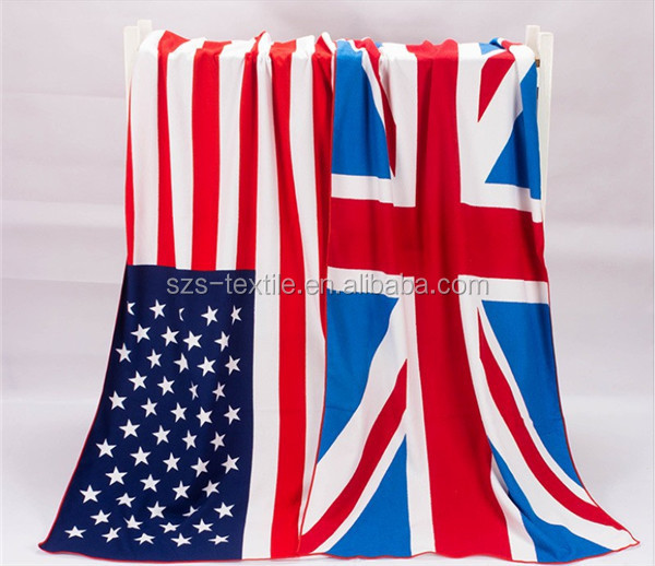 wholesale character large flag printed beach towel