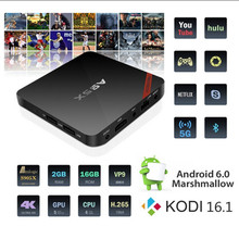 a95x TV Box Amlogic Quad Core Media Player Android 6.0 2.4G/5G Wifi a95x web browser smart TV box