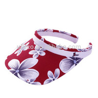 2015 top quality 100% polyester wholesale custom woman cheap printed plastic sun visor