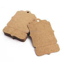 Perforated blank kraft paper hang tags