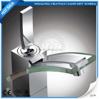 chinese supplier single handle glass basin faucet