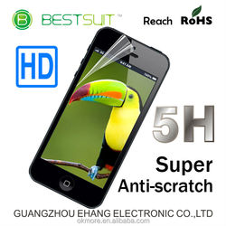 New products super anti scratch-resistant high clear 5h PET screen protector smart phone