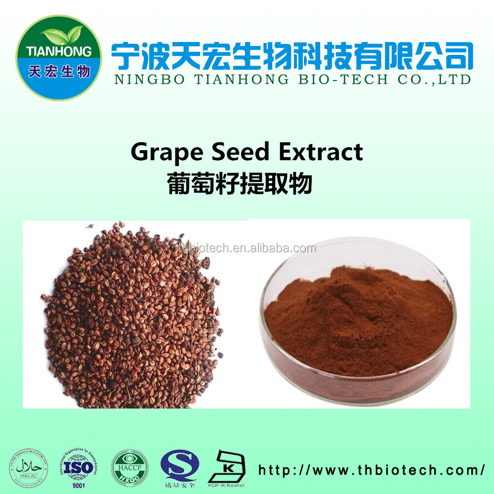 hot sales Top quality grape seed extract powder 95% proanthocyanidins