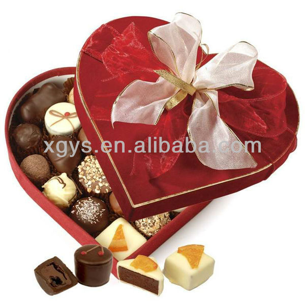 Heart Shaped Wedding Sweet Gift Box Packing (XG-GB-417)
