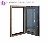thermal break aluminum casement window laminated glass