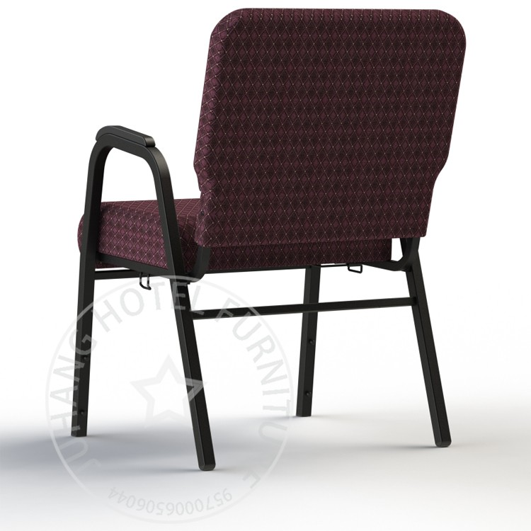 China Popular Wholesale Steel Stackable Church Chairs With Armrest View Stac