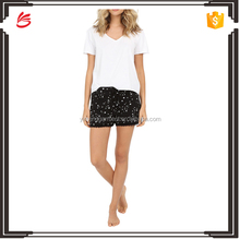 latest fashion 100% cotton women pajamas sleepwear and underwear