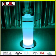 popular hotel furniture outdoor wine table/ LED light up bar tables hotel bar tables