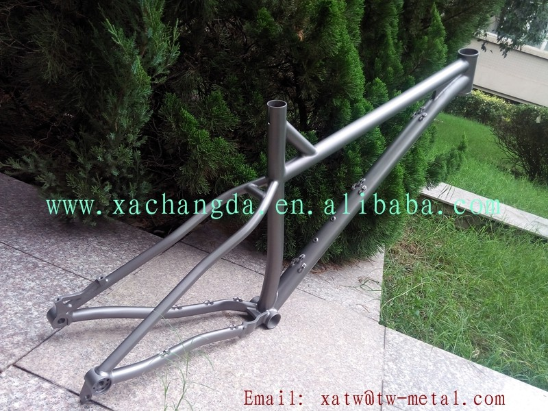 titanium fat bike frame thru 142X12mm dropout Ti fat bike frame thru 142X12mm dropout custom fat bike frame PM